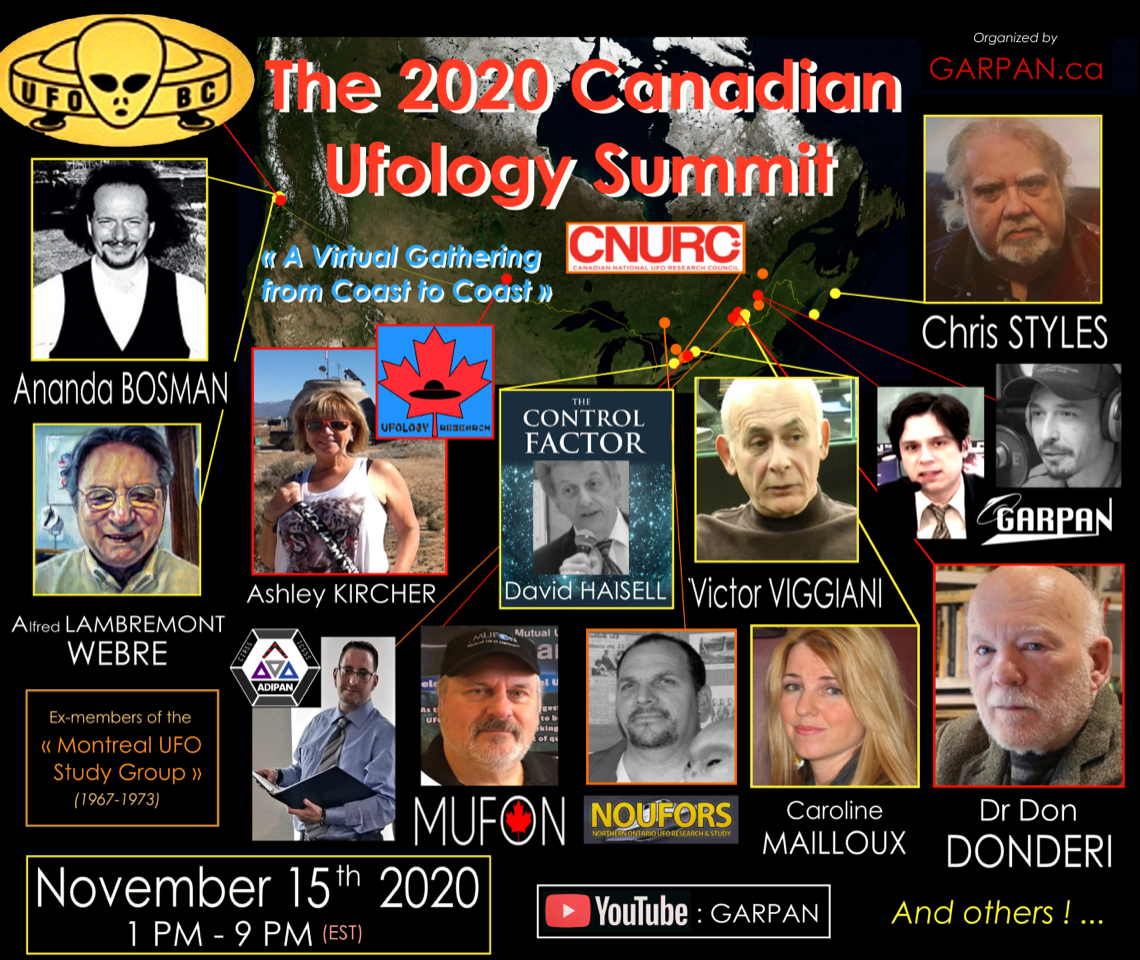 Video of the : 2020 Canadian UFOlogy Summit now uploaded!